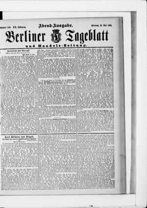 Berliner Tageblatt und Handels-Zeitung vom 20.05.1891