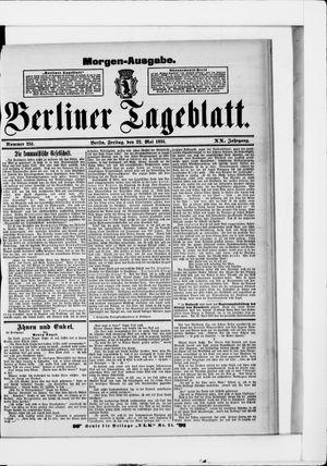 Berliner Tageblatt und Handels-Zeitung vom 22.05.1891