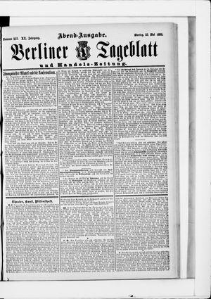 Berliner Tageblatt und Handels-Zeitung vom 25.05.1891