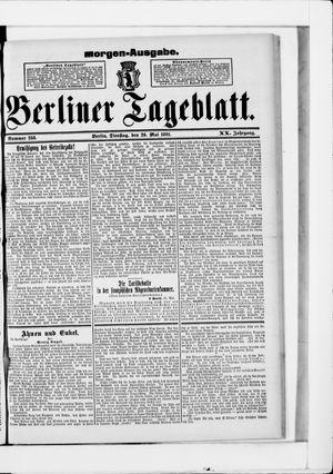 Berliner Tageblatt und Handels-Zeitung vom 26.05.1891