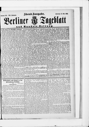 Berliner Tageblatt und Handels-Zeitung on May 27, 1891