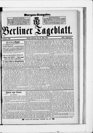 Berliner Tageblatt und Handels-Zeitung vom 29.05.1891