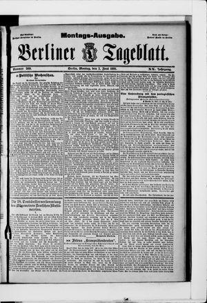Berliner Tageblatt und Handels-Zeitung vom 01.06.1891