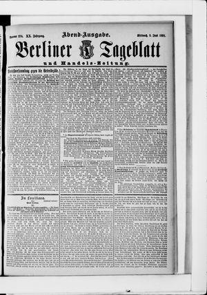 Berliner Tageblatt und Handels-Zeitung on Jun 3, 1891