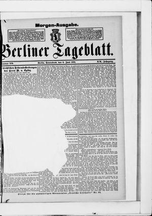 Berliner Tageblatt und Handels-Zeitung vom 06.06.1891