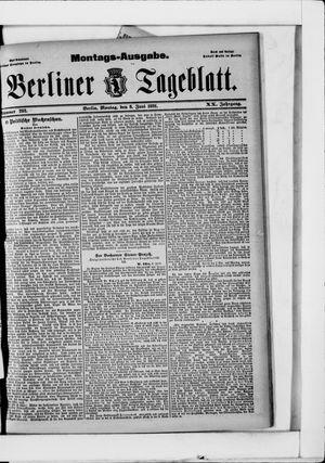 Berliner Tageblatt und Handels-Zeitung vom 08.06.1891