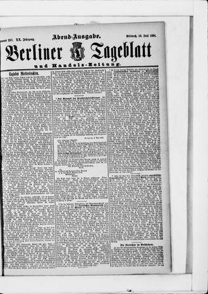 Berliner Tageblatt und Handels-Zeitung vom 10.06.1891