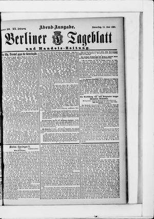 Berliner Tageblatt und Handels-Zeitung vom 11.06.1891