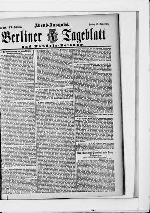 Berliner Tageblatt und Handels-Zeitung vom 12.06.1891