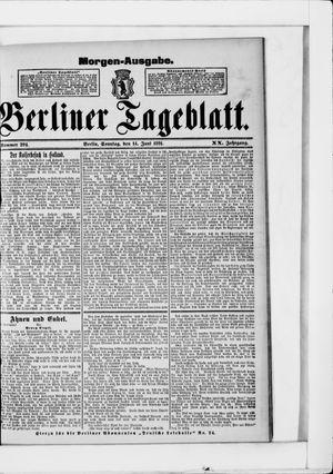 Berliner Tageblatt und Handels-Zeitung vom 14.06.1891
