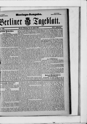 Berliner Tageblatt und Handels-Zeitung vom 15.06.1891