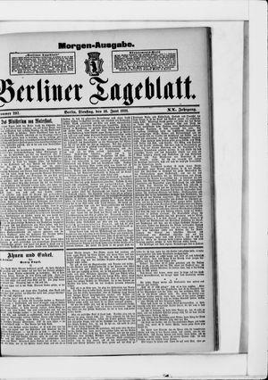 Berliner Tageblatt und Handels-Zeitung vom 16.06.1891