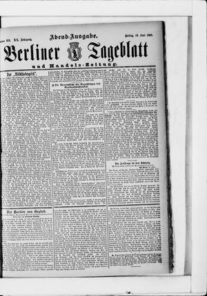 Berliner Tageblatt und Handels-Zeitung on Jun 19, 1891