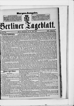 Berliner Tageblatt und Handels-Zeitung vom 20.06.1891
