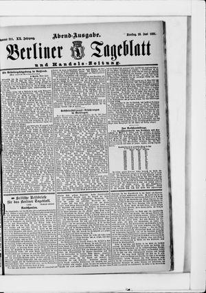 Berliner Tageblatt und Handels-Zeitung vom 23.06.1891