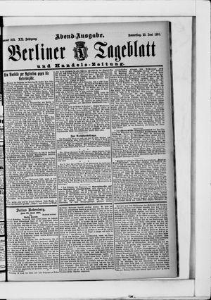 Berliner Tageblatt und Handels-Zeitung vom 25.06.1891