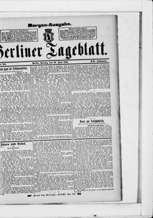 Berliner Tageblatt und Handels-Zeitung vom 26.06.1891