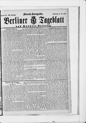 Berliner Tageblatt und Handels-Zeitung on Jun 27, 1891