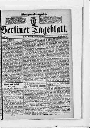Berliner Tageblatt und Handels-Zeitung vom 28.06.1891