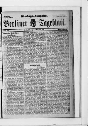 Berliner Tageblatt und Handels-Zeitung vom 29.06.1891