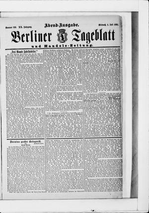 Berliner Tageblatt und Handels-Zeitung vom 01.07.1891