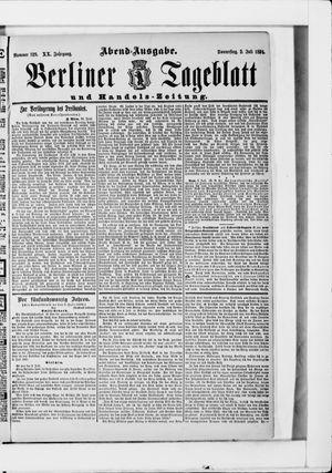 Berliner Tageblatt und Handels-Zeitung vom 02.07.1891