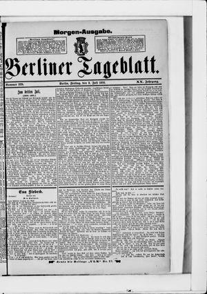 Berliner Tageblatt und Handels-Zeitung vom 03.07.1891