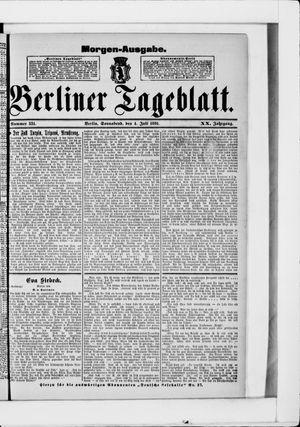 Berliner Tageblatt und Handels-Zeitung vom 04.07.1891