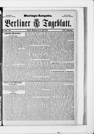 Berliner Tageblatt und Handels-Zeitung vom 06.07.1891