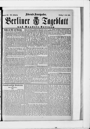 Berliner Tageblatt und Handels-Zeitung vom 07.07.1891