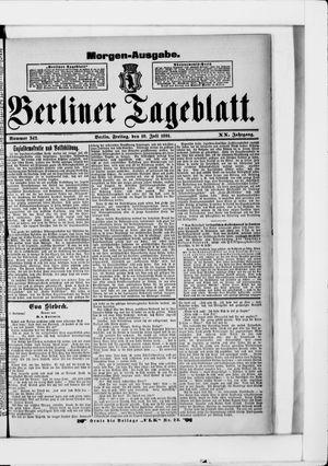Berliner Tageblatt und Handels-Zeitung vom 10.07.1891