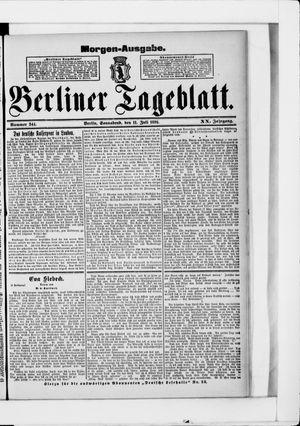 Berliner Tageblatt und Handels-Zeitung vom 11.07.1891