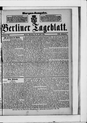 Berliner Tageblatt und Handels-Zeitung vom 12.07.1891