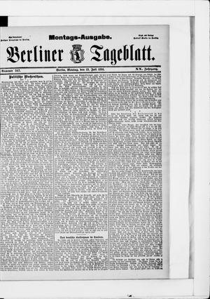 Berliner Tageblatt und Handels-Zeitung vom 13.07.1891