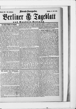 Berliner Tageblatt und Handels-Zeitung vom 14.07.1891