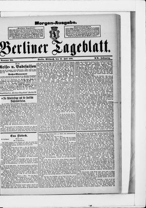 Berliner Tageblatt und Handels-Zeitung vom 15.07.1891
