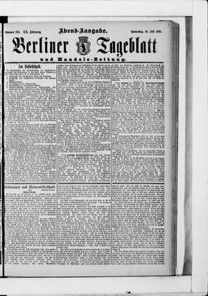 Berliner Tageblatt und Handels-Zeitung vom 16.07.1891