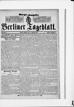 Berliner Tageblatt und Handels-Zeitung vom 01.01.1892