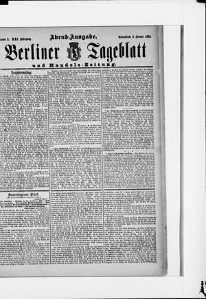 Berliner Tageblatt und Handels-Zeitung vom 02.01.1892