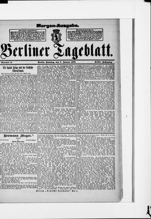 Berliner Tageblatt und Handels-Zeitung vom 03.01.1892