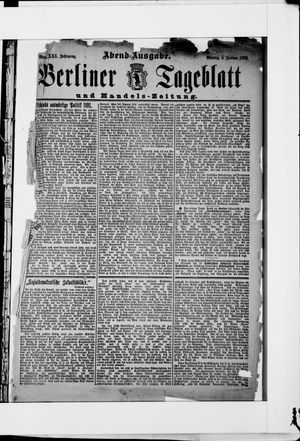 Berliner Tageblatt und Handels-Zeitung vom 04.01.1892