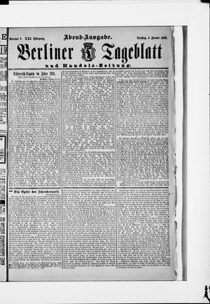 Berliner Tageblatt und Handels-Zeitung vom 05.01.1892