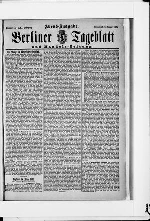 Berliner Tageblatt und Handels-Zeitung vom 09.01.1892
