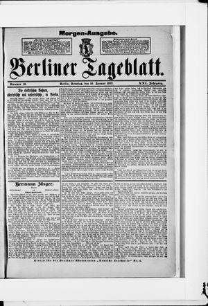 Berliner Tageblatt und Handels-Zeitung vom 10.01.1892