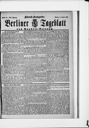 Berliner Tageblatt und Handels-Zeitung on Jan 11, 1892