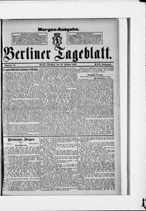 Berliner Tageblatt und Handels-Zeitung vom 12.01.1892
