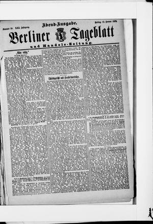 Berliner Tageblatt und Handels-Zeitung vom 15.01.1892