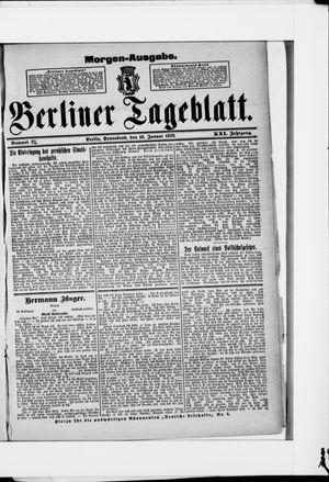 Berliner Tageblatt und Handels-Zeitung vom 16.01.1892