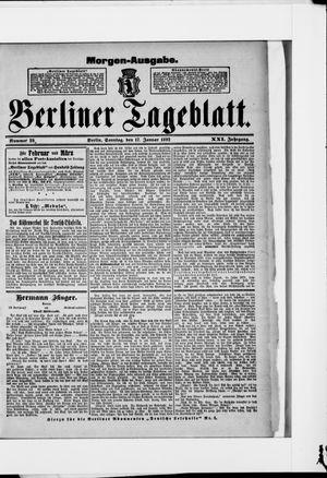 Berliner Tageblatt und Handels-Zeitung vom 17.01.1892