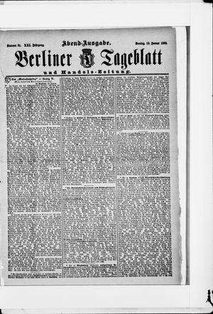 Berliner Tageblatt und Handels-Zeitung vom 18.01.1892